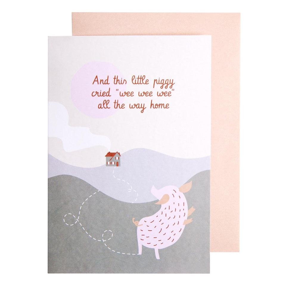Piggy Nursery Rhyme Card