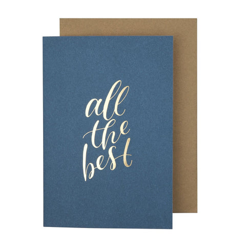 Card Typeography All The Best