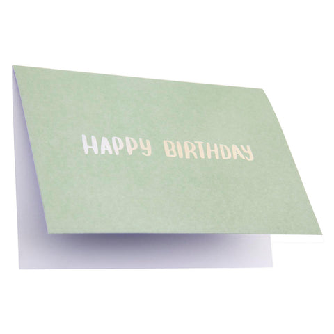 Card Typography Happy Birthday