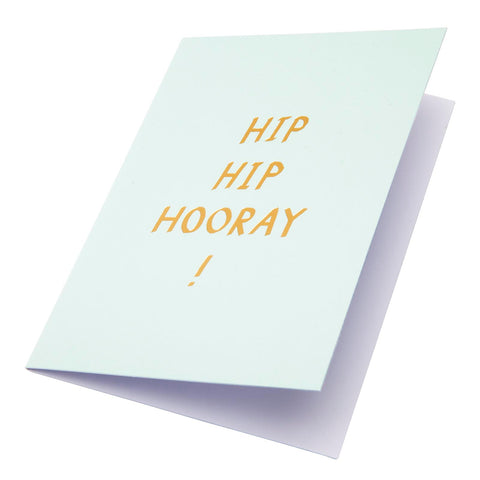 Typeography Hip Hip Hooray