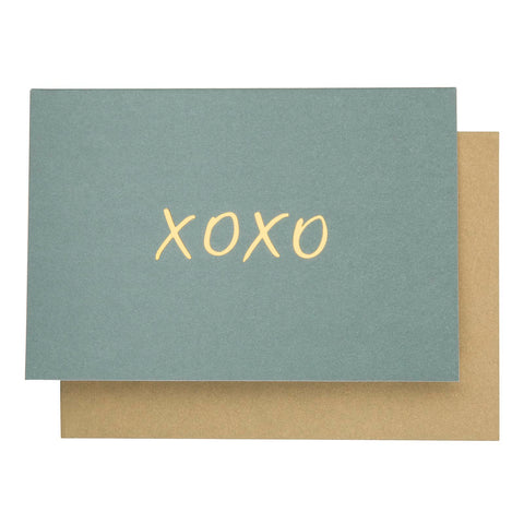 Card Typeography XOXO