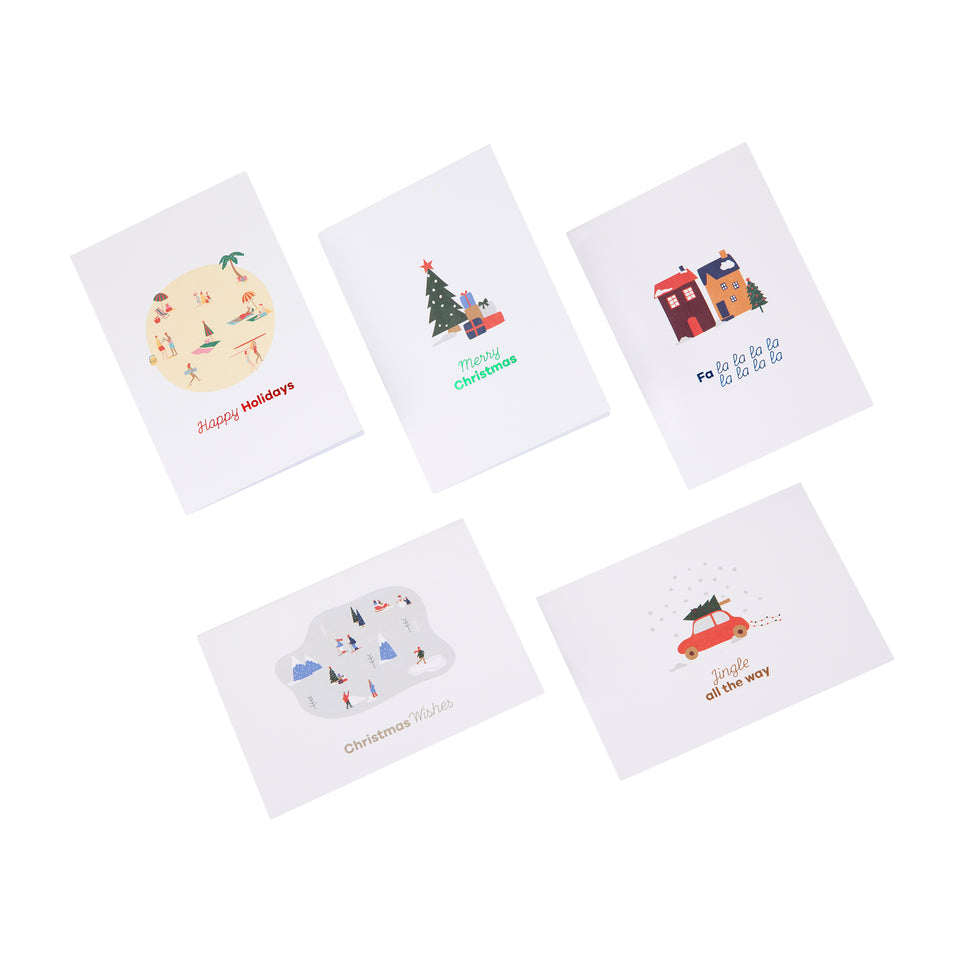 Destination Christmas Card Set of 5