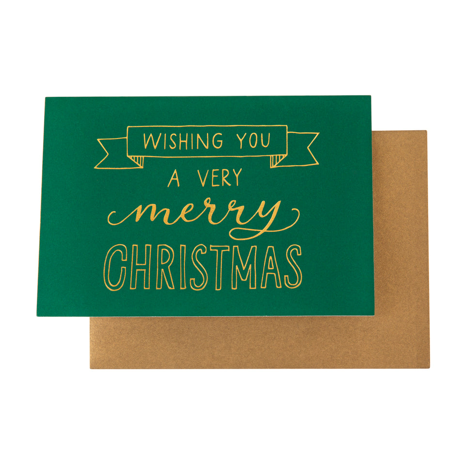 Card Foil Wishing You A Very Merry Christmas