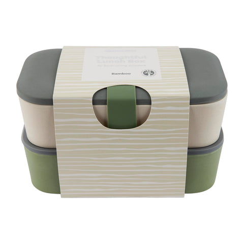 Lunch Box Bamboo Double Army