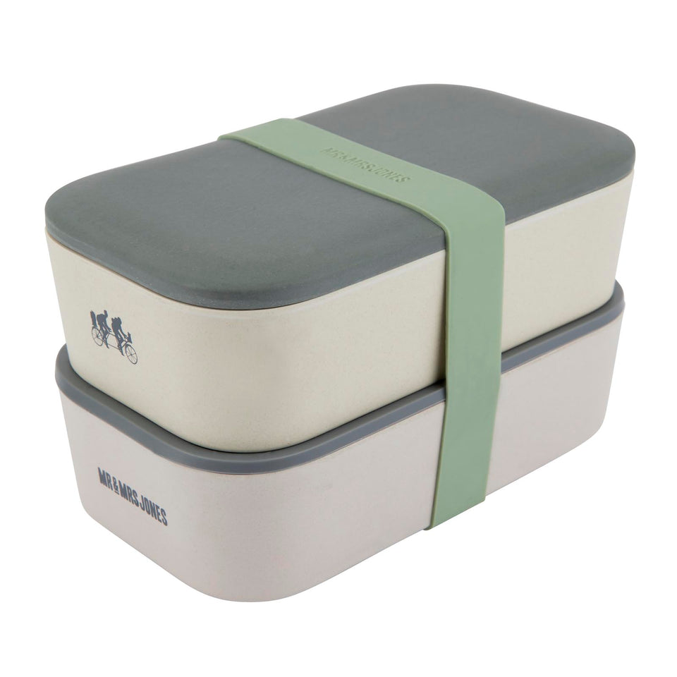 Lunch Box Bamboo Double