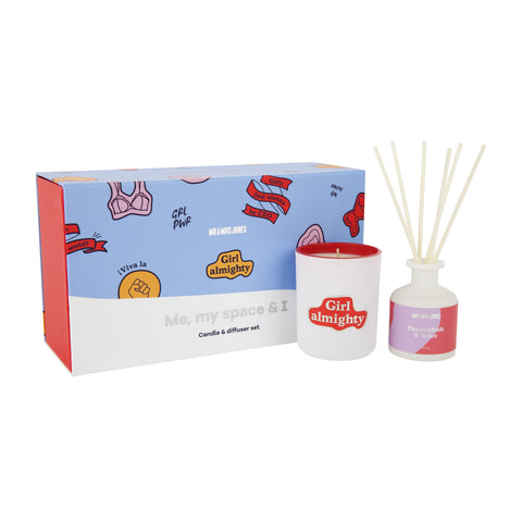 Me, My Space & I Candle & Diffuser Set Femme