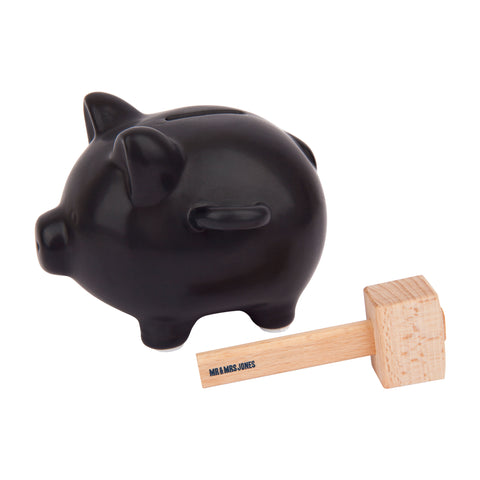 Savings Smash Piggy Bank | Black