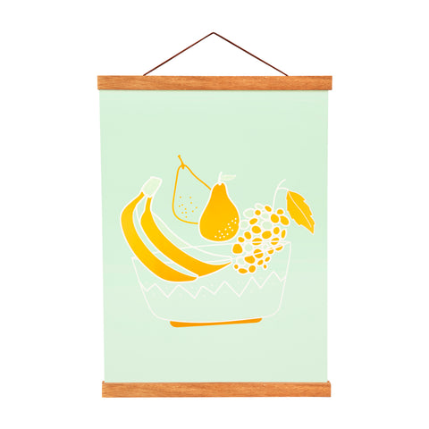 Kitchen Table Art Print | Fruit Bowl