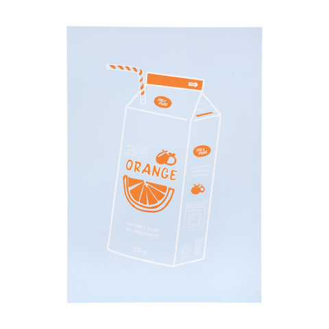 Kitchen Table Art Print | Orange Juice