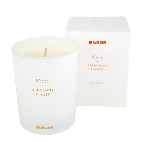 Scented Candle Single Wick Blanc
