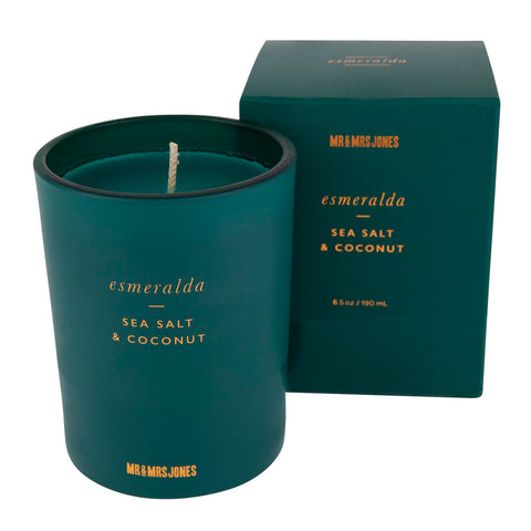 Sea Salt & Coconut | Single Wick Candle | Esmeralda