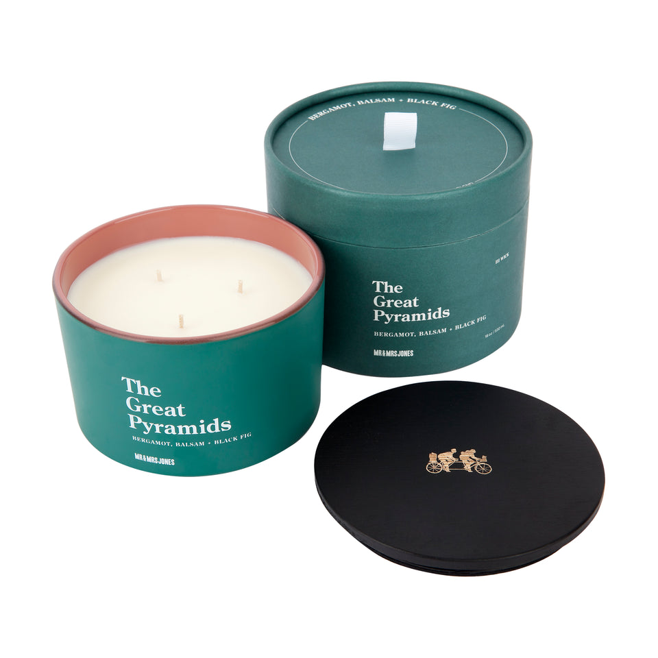 3 Wick Candle The Great Pyramids | Bergamot, Balsam + Black Fig