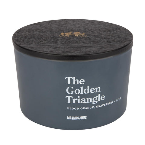 Scented Candle 3 Wick The Golden Triangle