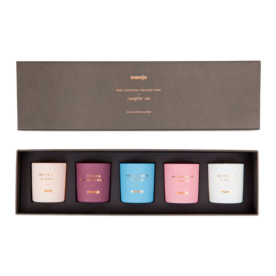 Scented Candle 5 Pack Sampler The Chroma Collection II