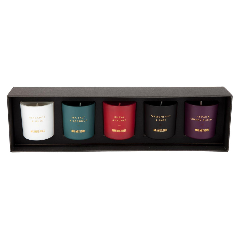 Scented Candle 5 Pack Sampler The Chroma Collection