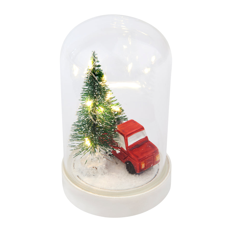 Christmas Dome Light Truck