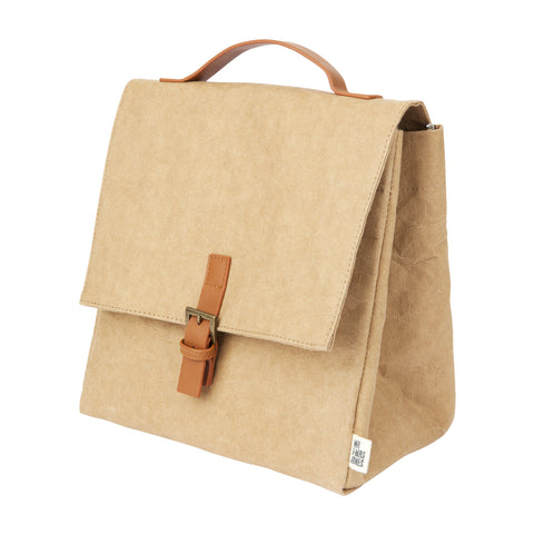 Premium Eco Washable Paper Lunch Bag | Clay