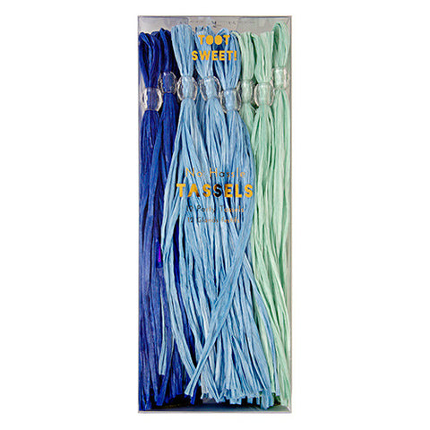 Party Tassels Blue 12Set