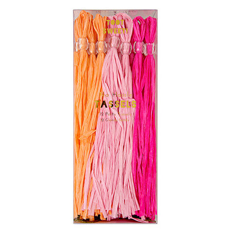 Party Tassels Pink 12Set