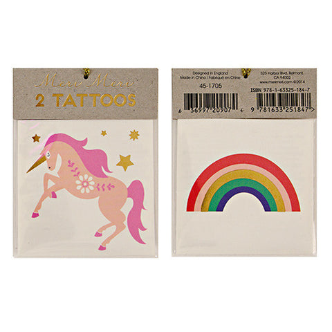 Tattoos - Unicorn & Rainbow