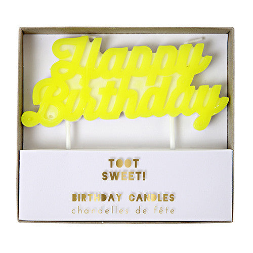 Happy Birthday Candle Yellow