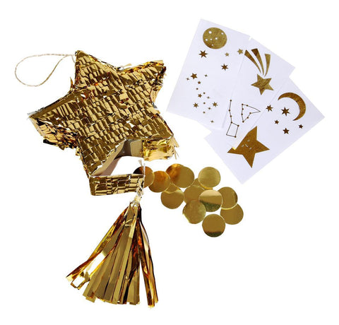 Mini Pinata Favours Star Gold