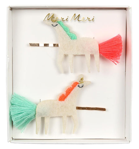 Hair Clips Unicorn Tassel