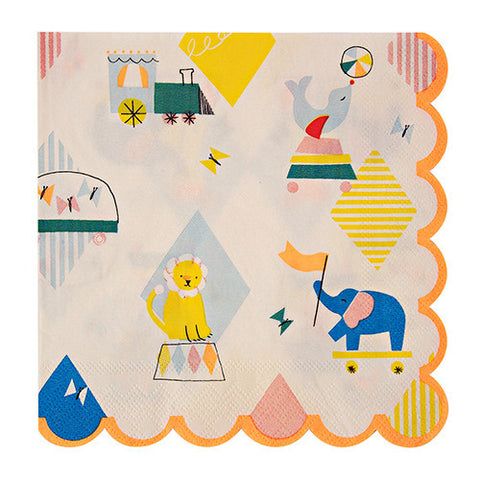 Silly Circus Napkins Large 20 Set