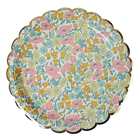 Liberty Plates Large - Poppy & Daisy 8 pack