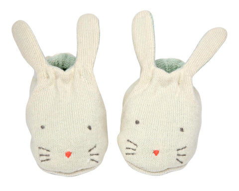 Baby Booties Bunny Mint