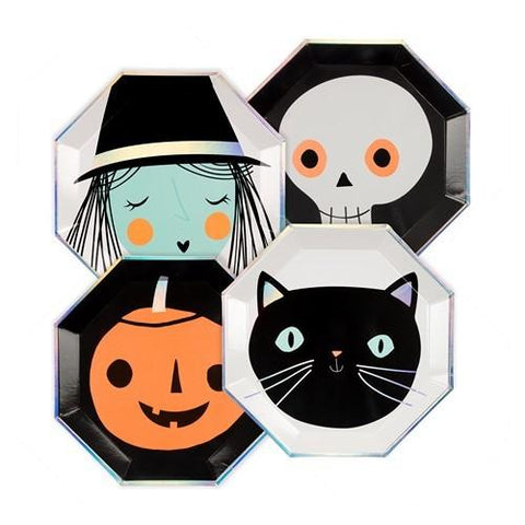 Halloween Icon Plates Lg 8Set