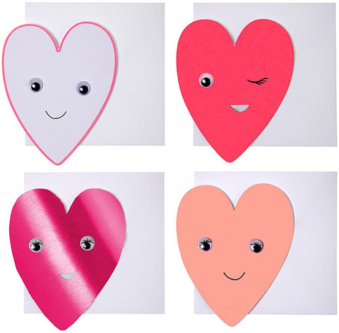 Card Set Winking Heart (24 Set)
