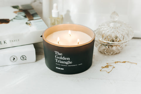 Blood Orange, Grapefruit & Basil | 3 Wick Candle | The Golden Triangle