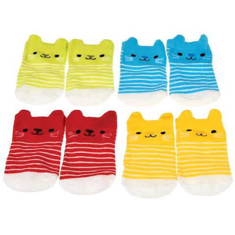 Baby Socks - Kitten (4Pair)