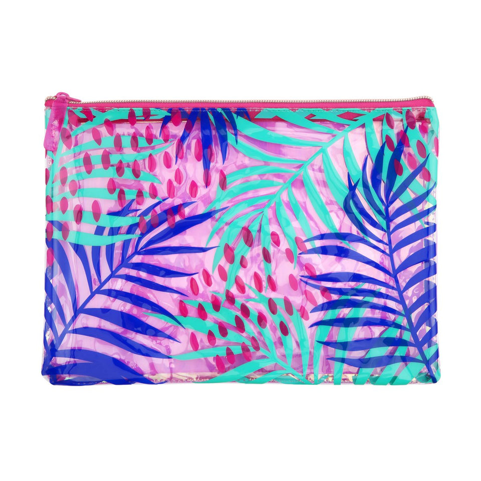 See Thru Pouch Electric Bloom Pink | Sunnylife