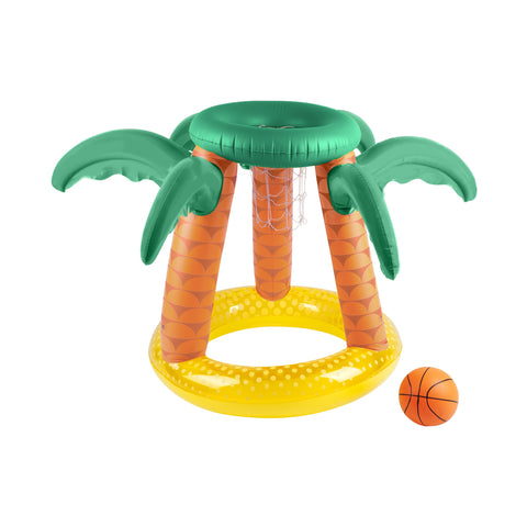Inflatable Basketball Set Tropical Island | Sunnylife