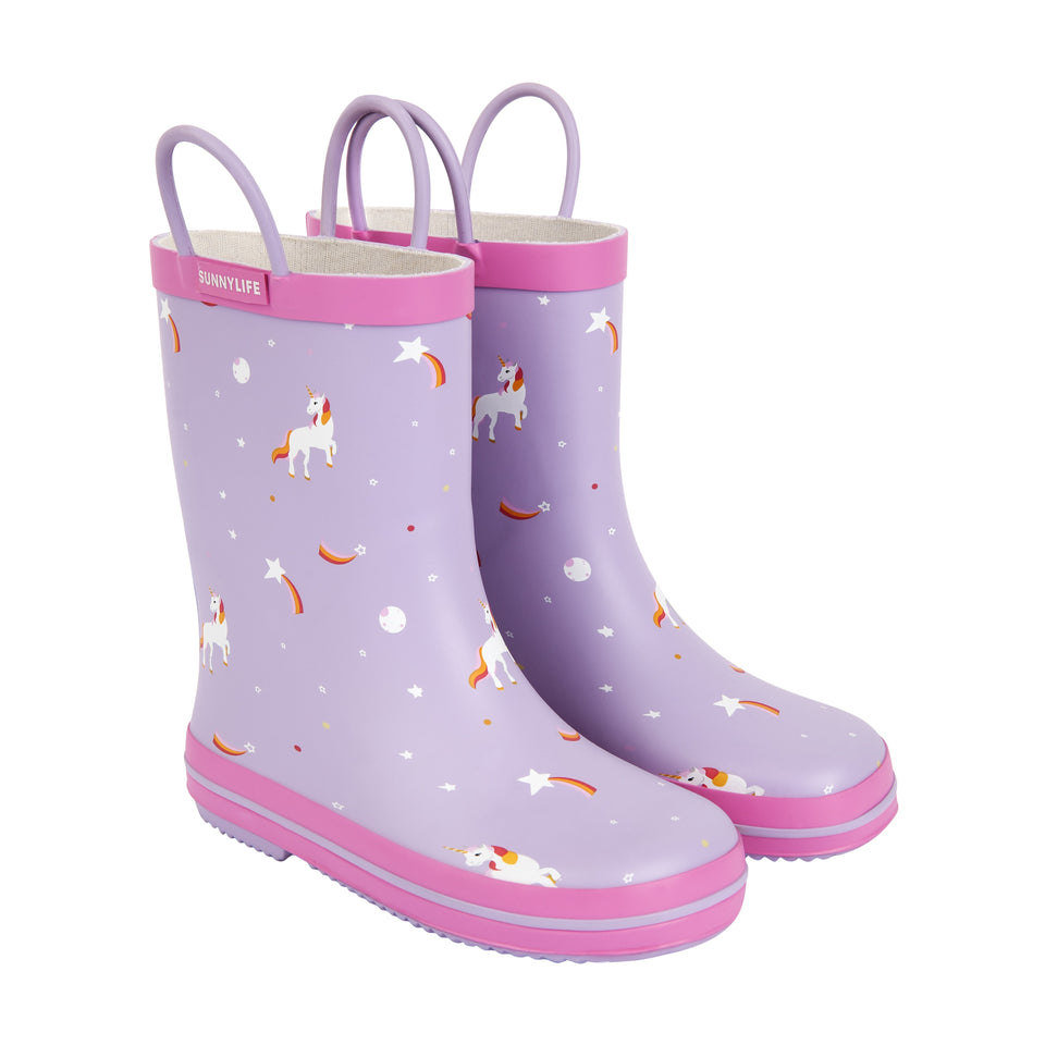 Kids Rain Boot Stardust (5-6 year olds) | Sunnylife
