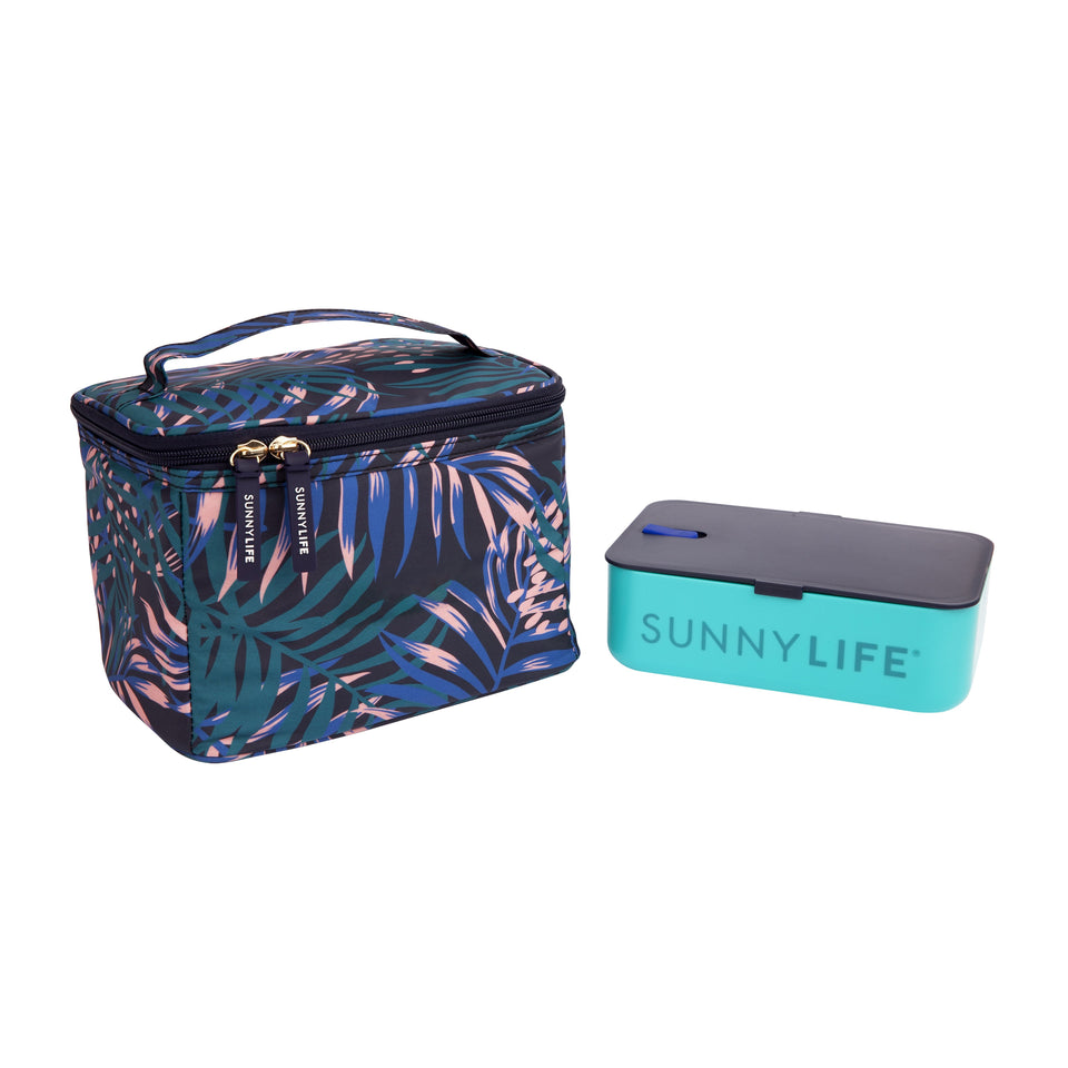 Lunch Bag Electric Bloom Navy Blue | Sunnylife