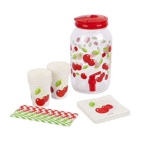 Drink Dispenser Party Kit Cherry