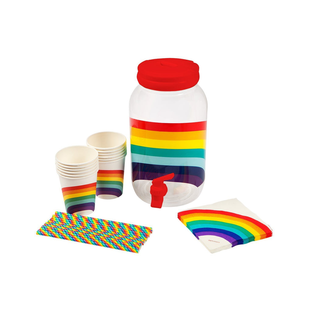 Drink Dispenser Party Kit Rainbow