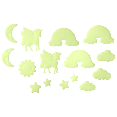 Glow In The Dark Decals Wonderland Set of 16