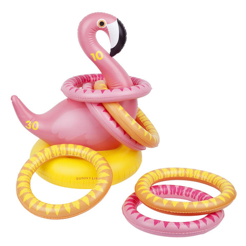 Inflatable Ring Toss Flamingo