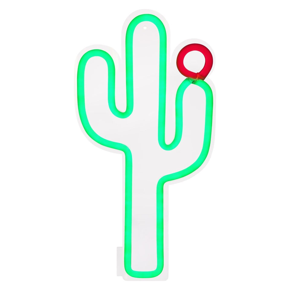 Large Cactus Neon Wall Light
