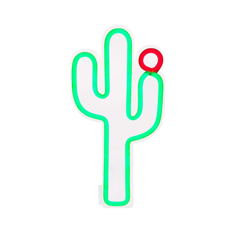 Small Cactus Neon LED Wall Light