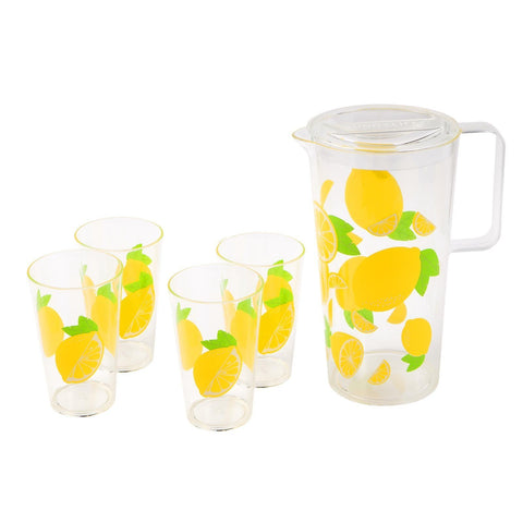 Party Drinkware Set Lemon