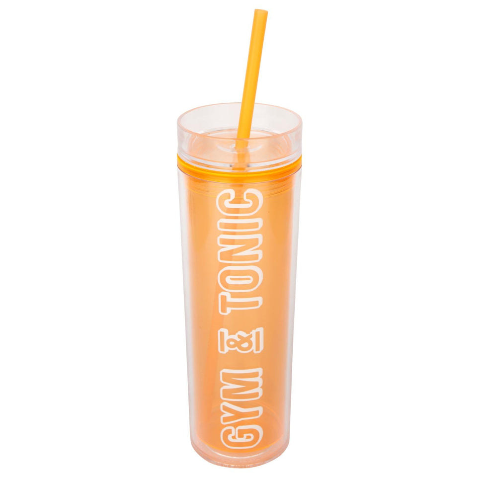Malibu Gym & Tonic Tumbler Neon Orange | Sunnylife
