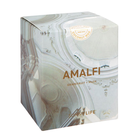 Small Grapefruit & Musk Scented Candle | Amalfi