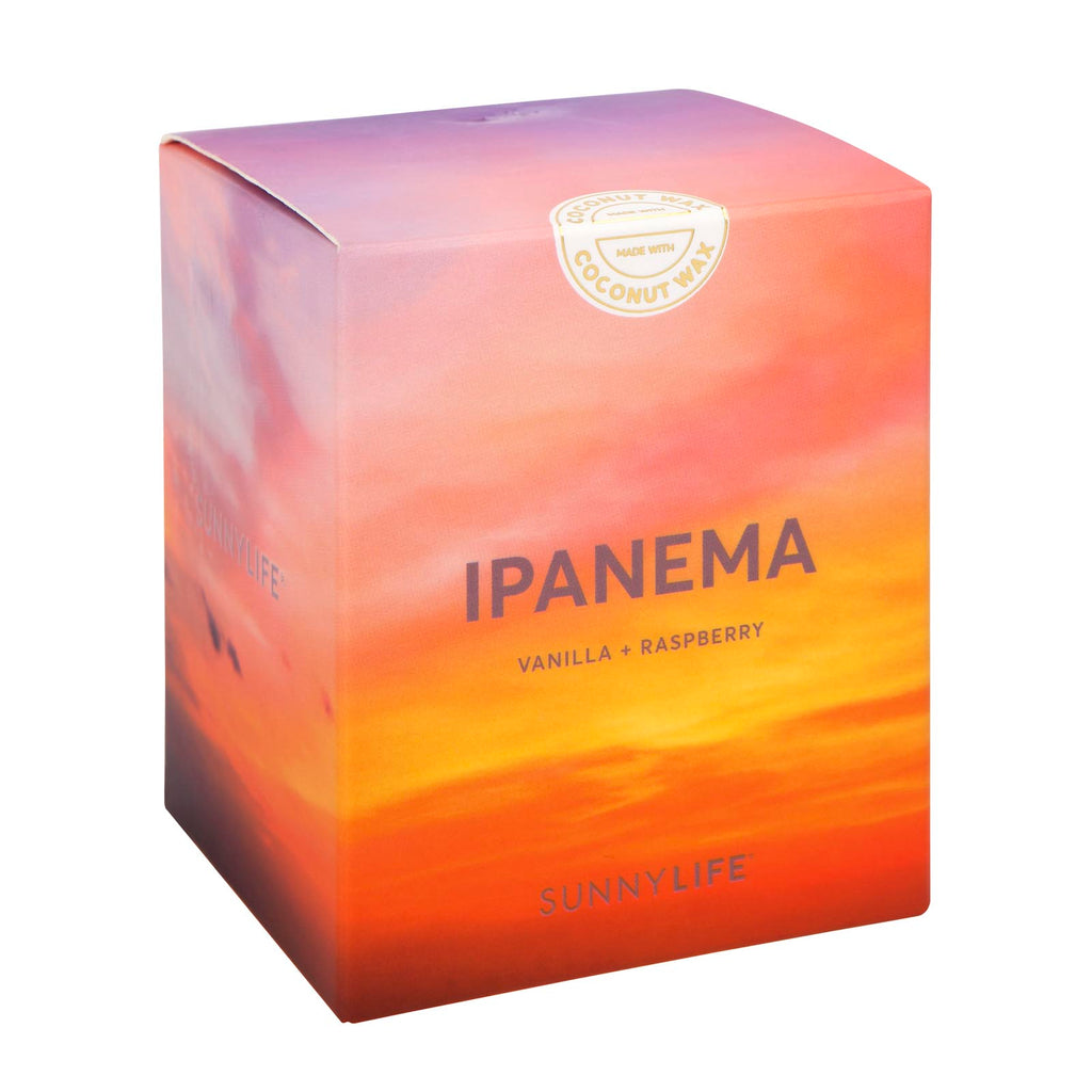 Small Vanilla & Raspberry Scented Candle Ipanema