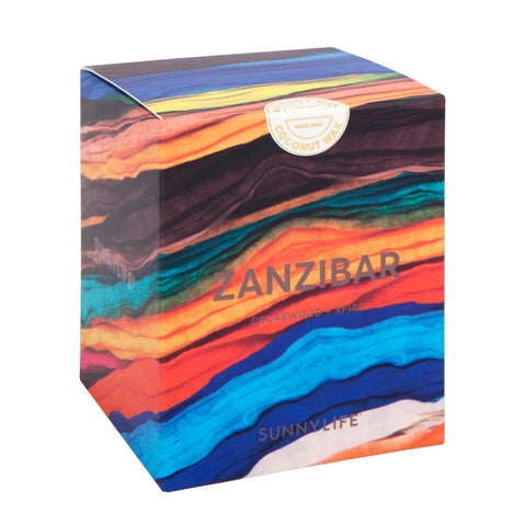 Small Cedarwood & Spice Scented Candle Zanzibar