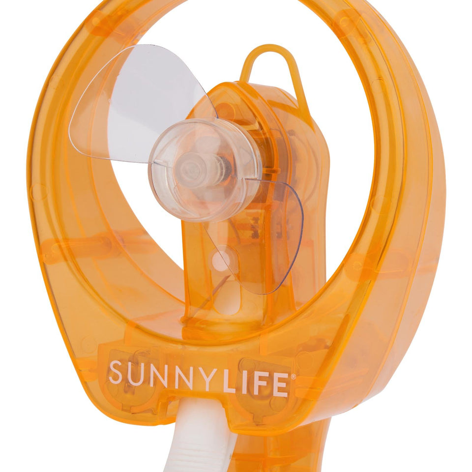 Water Misting Fan Neon Orange